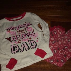 Other - Girls pj's shirt size 5T pants 3t